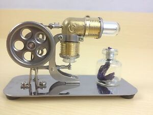 Mini Hot Air Stirling Engine Motor Model Educational Toy Kits Electricity AU