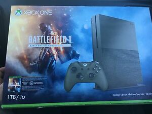 Xbox one/ one controller/ battlefield 1/ 1 year of Xbox live.