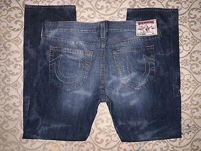 Mens True Religion Distressed Bobby Straight Leg Jeans! 40 x 34