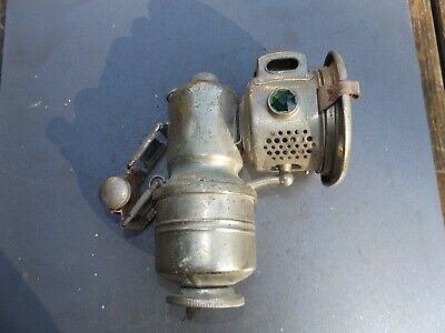 VINTAGE BICYCLE P & H CARBIDE ACETYLENE GAS LAMP LIGHT NUMBER 70A SUNBEAM RUDGE