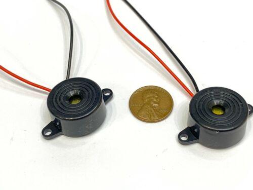 2 Piece Buzzer alarm active piezo 3v 5v 6v 12v 24v continuous sound dc 85DB C20