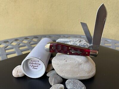 GEC Tidioute Great Eastern Cutlery #92 Eureka Jack Knife Elderberry Jigged Bone