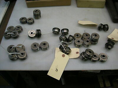 Lot Of 18 Sets Metric Thread Rolling Dies M10-m16 - See Description For Sizes