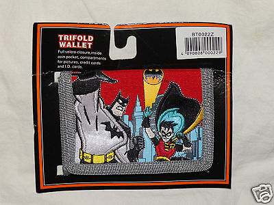 NEW BATMAN & ROBIN  TRIFOLD COIN RED WALLET  - Red Batman
