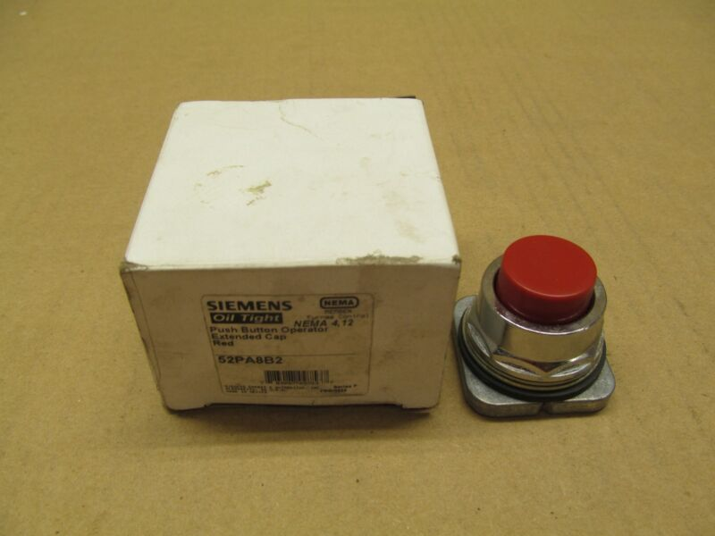 NIB SIEMENS 52PA8B2 PUSH BUTTON OPERATOR EXTENDED CAP RED NEMA 4,12 (38 AVAIL)