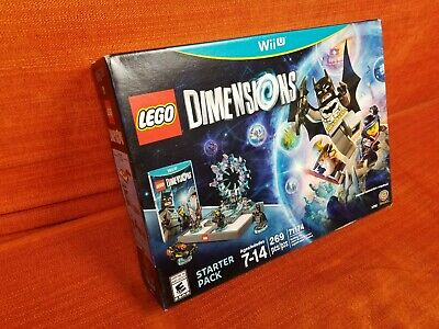 Wii U Lego Dimensions Starter Pack + Batman + Gandalf + WildStyle Brand New !!!