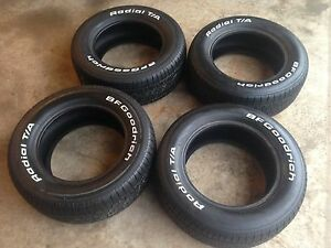4 bfgoodrich t/a tires 225/60 front 235 rear