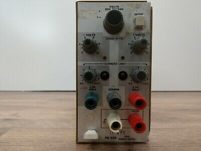 Tektronix Ps503 0 To 20v 0 To -20v At 1a 45w Power Supply Plug-in Vintage