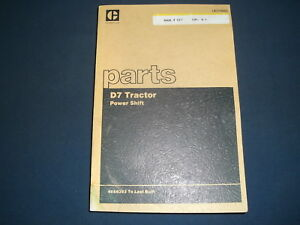 CAT CATERPILLAR D7 CRAWLER TRACTOR DOZER PARTS BOOK MANUAL S/N 48A6393-UP