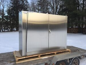 Big stainless steel enclosure. Tool box. Cabinet