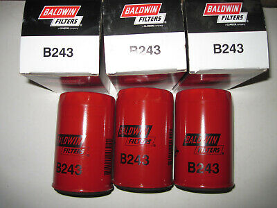 Baldwin B243 Oil Filters Lot of 3 NIB Made in the USA