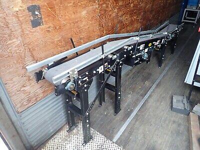 Hytrol Conveyor System 8 Wide Belts 11 4 Conveyor Length Used Nice Shape