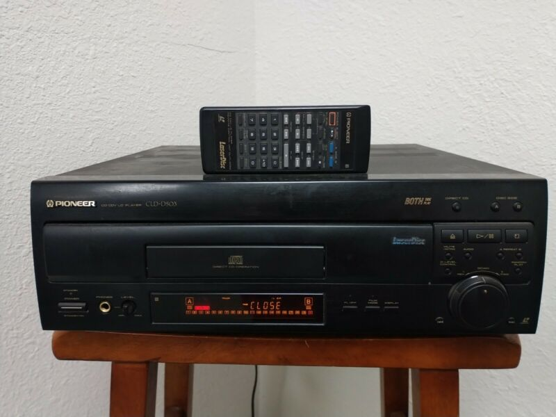 Pioneer CLD -D503 CD CDV Laserdisc Player Tested & Works With Remote