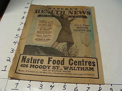 April 1940 Natures Health News Vintage Mag