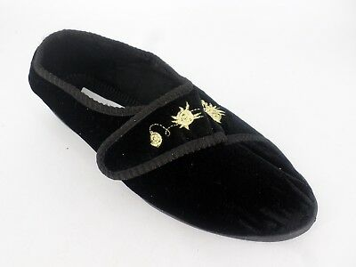 Heavenly Soles Touch Fastening Slippers Wide Fit UK 4 EU 37 LN087 LL 02