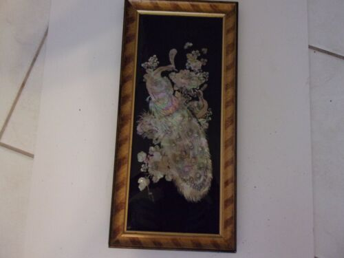 Vintaqge Mother of pearl inlay Korean art framed