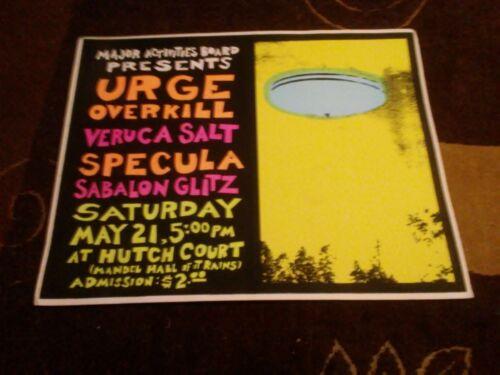 Urge Overkill, Veruca Salt, 1994 silkscreen Concert Poster Vintage