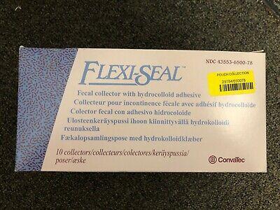 Convatec Flexi-seal Fecal Collector With Hydrocolloid Adhesive Box10