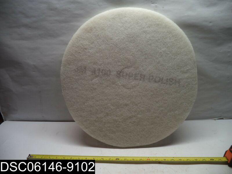 """QTY=5: 3M 4100 20"""" Super Polishing Floor Pads"""