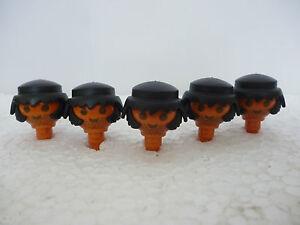 Playmobil 6274 lot de 5 t te m tisse avec barbe soldat for Fenetre nordiste