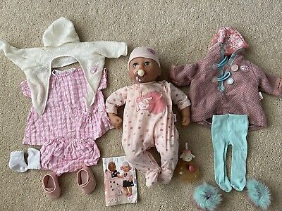 """Baby Annabell 2006 16"""" Doll With 3 Outfits, Dummy & Bottle"""