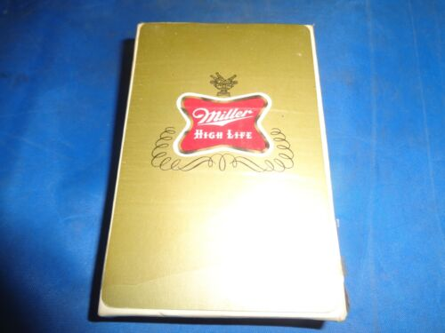 VINTAGE MILLER HIGH LIFE PLAYING CARDS NEW! STILL SEALED! - ORIGINAL