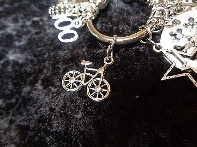 Meeting Fitness Goals Bicycle Weight Loss Charm For Weight Watchers Ring