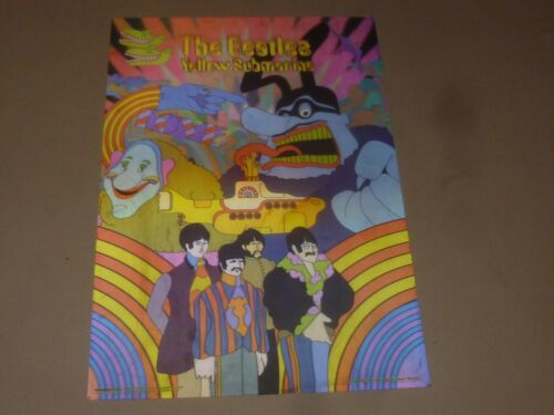 BEATLES THE YELLOW SUBMARINE POSTER PSYCHEDELIC 3D LENTICULAR LAMINATE HOLOGRAM