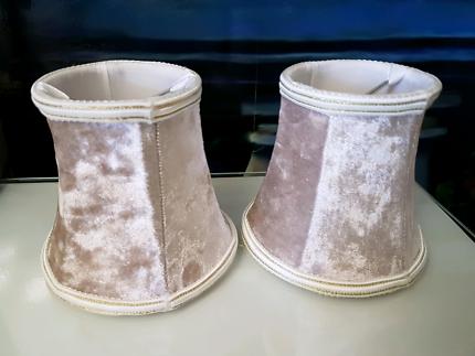 10cm velvet lampshades x 2