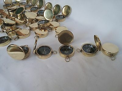 50 Brass Vintage Lid Compass 45mm Lot Of 50 Pcs Marine Collectible Decorative