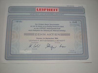 Deutschland - Leifheit AG  10  x   50  DM  1984   1/232-1