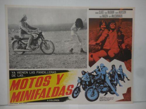MOTOS Y MINIFALDAS, SET OF 8 ORIGINAL LOBBY CARDS