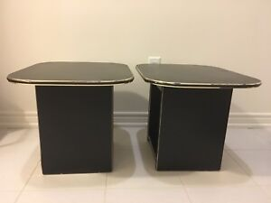 Gently used (living room) side tables x 2