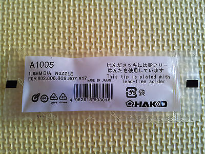 Hakko A1005 1.0mm Desoldering Nozzle For 802 808 809 807 817 New