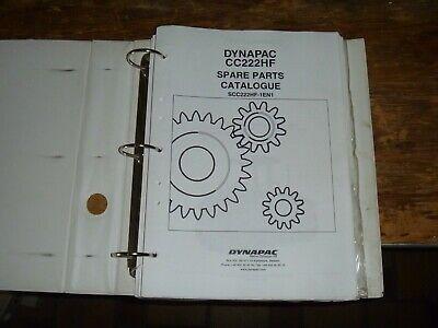 Dynapac Cc222hf Vibratory Smooth Drum Roller Parts Catalog Manual