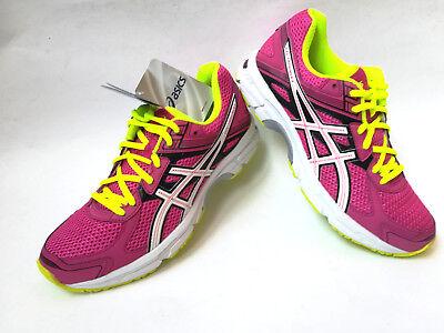 Asics Gel-Trounce 2 Women Laufschuhe hot pink/white/flash yellow UK 8  EU 42