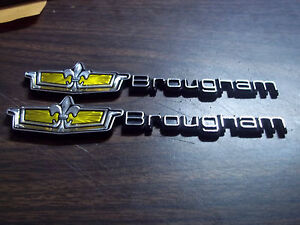 NEW 86-90 Chevy CAPRICE CLASSIC Brougham LS Roof Emblems Set
