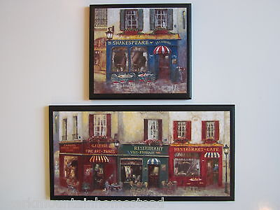 Paris French Street Bistro Cafe Signs 2 plaques kitchen bath bedroom wall decor Cafe Bistro Decor