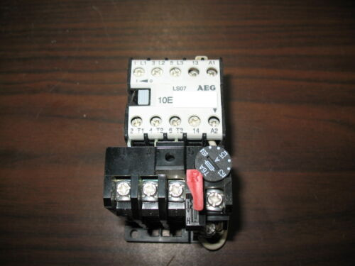 AEG LS07 16 Amp Mini Contactor w/ B7-1 Overload Relay (24 VDC Coil, 1.2 to 1.8A)
