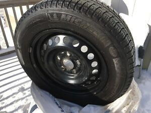 195/65R15 Michelin X-Ice winter tires and wheels