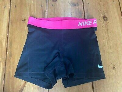 Nike Pro Dri-Fit Women's Shorts – Black/Vivid Pink (Size S)