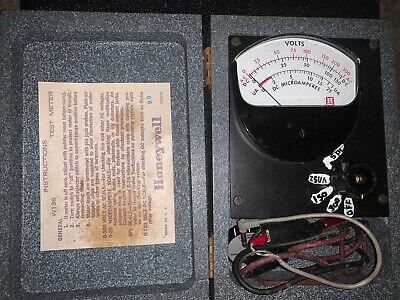 Vintage Honeywell W136 Test Meter In Wooden Case Untestedb
