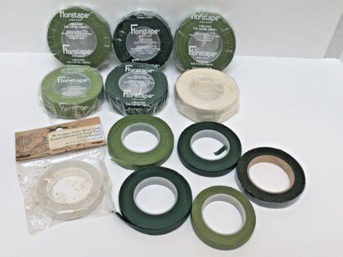 Lot of 18 FLORA TAPE ROLLS-New 6 Pack (12 Rolls), 4 Partial Rolls, 2 New Singles