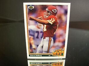Steve DeBerg Upper Deck 1991 Card #462 Kansas City Chiefs TEAM MVP NFL Football