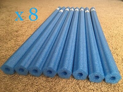 Lot 8x Blue Noodle Swimming Pool Noodle therapy water floating foam craft
