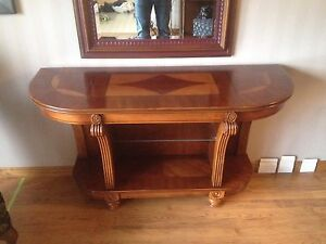 Long accent sofa table