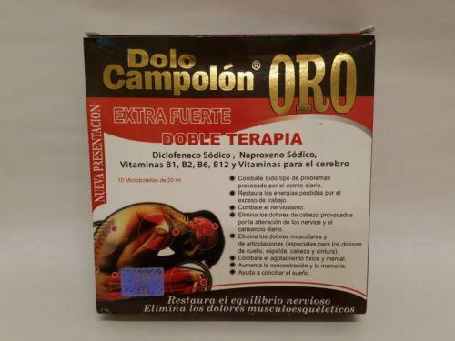 Dolo Campolon ORO (Elimina los dolores Musculares) 10 Ampolletas de 20ml       M