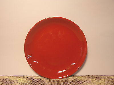 Waechterback China Solid Red Coupe Shaped Salad Plate 7 (Coupe Square China Plate)