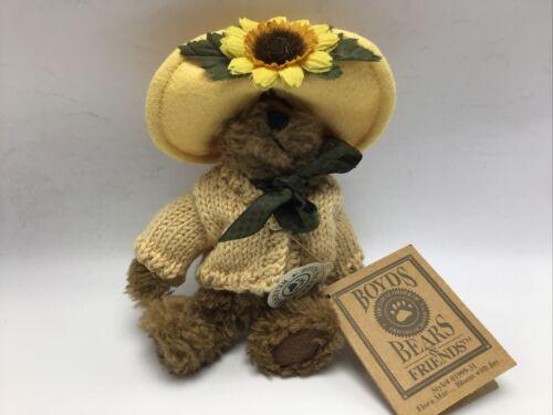 Boyd s Bear Flora Mae Bloom Joy Stuffed Plush Yellow Sweater 01999-31 NWT Vtg - $10.49