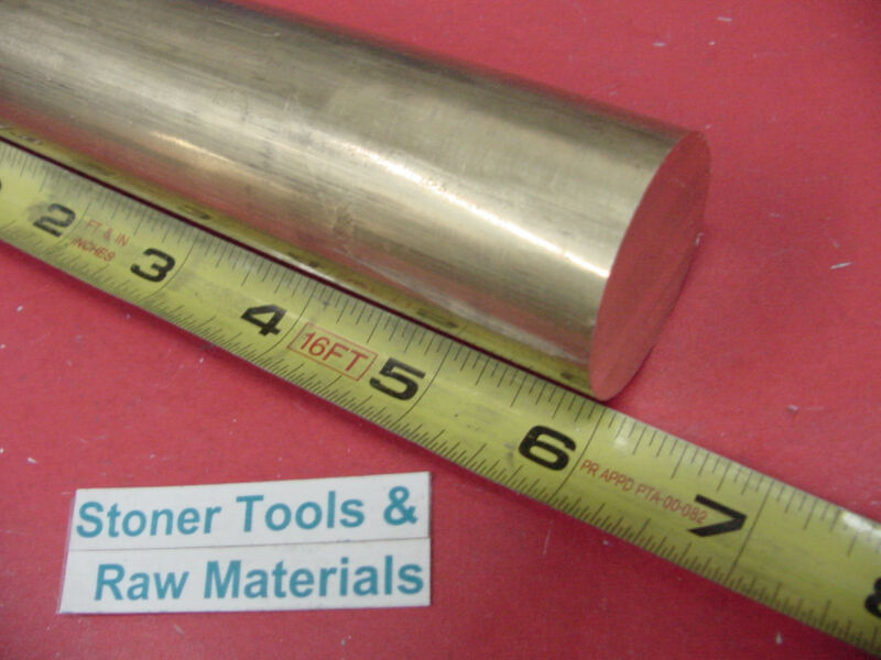 "1-1/2"" C360 BRASS ROUND ROD 6"" long Solid H02 Lathe Bar Stock 1.50"" Diameter x 6"